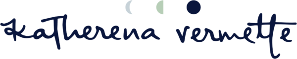 Katherena Vermette's wordmark featuring phases of the moon atop the author's name in a handwritten font.